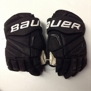 "Bauer Vapor APX2 Pro Custom Pro Stock Hockey Gloves Used Black 14"" NHL #12"