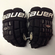 "Bauer Nexus 1000 Pro Stock Custom Hockey Gloves 14"" Black NHL used #17"