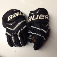 "Bauer Supreme Totalone NXG Pro Custom Pro Stock Hockey Gloves Used Black 14"" NHL"
