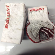 BAUER Supreme 1S Goalie Catcher and Blocker Pro Stock NCAA Used