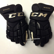 "CCM HG 10KN Pro Stock Custom Hockey Gloves 15"" Boston Bruins  WC MCQUAID NEW"