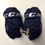 "CCM HGTKXP Pro Stock Custom Hockey Gloves 14"" NHL PANTHERS Navy used #48"