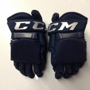 "CCM HG97 Pro Stock Custom Hockey Gloves 14""  used AHL Navy"
