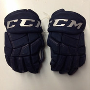 "CCM HGQL Pro Stock Custom Hockey Gloves 14""  AHL used Navy #43"
