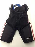 "Bauer Nexus Custom Pro Hockey Pants Medium + 1"" Black HUSKIES Pro Stock NCAA"
