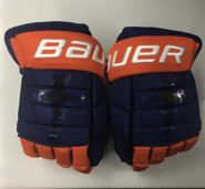 "Bauer Nexus 1N Pro Stock Custom Hockey Gloves 14"" Islanders New"