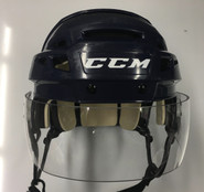 CCM VECTOR VO8 PRO STOCK HOCKEY HELMET NAVY BLUE SMALL AHL HARTFORD WOLF PACK #26