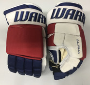 "Warrior Alpha QX Pro Custom Pro Stock Hockey Gloves NY Rangers 13"" NHL"