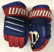 "Warrior Alpha QX Pro Custom Pro Stock Hockey Gloves Montreal Canadiens 14"" NHL"