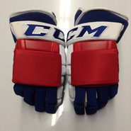"CCM HG97 Pro Stock Custom Hockey Gloves 13"" New York Rangers NHL THP"