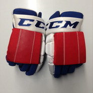 "CCM HG4RPP Pro Stock Custom Hockey Gloves 14"" New York Rangers NHL THP"