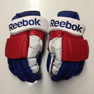 "Reebok 11KP Pro Stock Custom Hockey Gloves 15"" New York Rangers NEW"