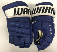 "Warrior Alpha QX Pro Custom Pro Stock Hockey Gloves Tampa Bay Lightning 14"" NHL"