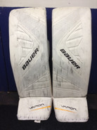 "BAUER Vapor 1X Pro Goalie Leg Pads 35+1"" Large Pro Stock NHL KHUDOBIN Boston Bruins"