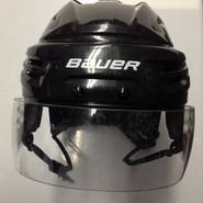 BAUER REAKT  PRO STOCK HOCKEY HELMET BLACK MEDIUM BOSTON BRUINS NHL #8
