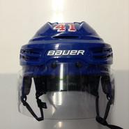 BAUER REAKT 100 PRO STOCK HOCKEY HELMET ROYAL BLUE MEDIUM NEW YORK RANGERS NHL #41