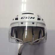 CCM VECTOR V08 PRO STOCK HOCKEY HELMET WHITE SMALL BOSTON BRUINS NHL #20