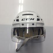 CCM VECTOR V08 PRO STOCK HOCKEY HELMET WHITE SMALL BOSTON BRUINS NHL #18