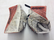 BAUER Supreme 1S Goalie Catcher and Blocker Pro Stock NCAA Custom used
