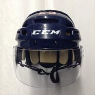 CCM VECTOR VO8 PRO STOCK HOCKEY HELMET NAVY BLUE SMALL  AHL HARTFORD WOLF PACK #23