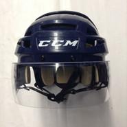 CCM VECTOR VO8 PRO STOCK HOCKEY HELMET NAVY BLUE SMALL  AHL HARTFORD WOLF PACK #95