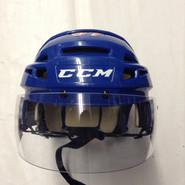 CCM VECTOR V08 PRO STOCK HOCKEY HELMET ROYAL BLUE SMALL NEW YORK RANGERS NHL #37