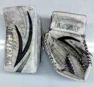 Vaughn Velocity 5 Vision Goalie Glove and Blocker ELLIS Pro stock NCAA