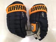 """Warrior Dynasty AX1 Pro Stock Custom Hockey Gloves 14"""" Nashville Predators NHL"""
