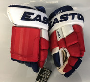 "Easton Pro Custom Hockey Gloves Pro Stock 14"" Glass NY Rangers NHL"