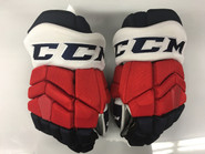 "CCM HGTKPP Pro Stock Custom Hockey Gloves 14"" Rochester Americans AHL"