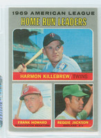 1970 Topps Baseball 66 AL HR Leaders Near-Mint