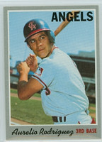 1970 Topps Baseball 228 Aurelio Rodriguez California Angels Near-Mint Plus