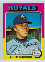 1975 Topps Baseball 24 Al Fitzmorris Kansas City Royals Near-Mint to Mint