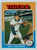 1975 Topps Baseball 42 Joe Coleman Detroit Tigers Near-Mint to Mint