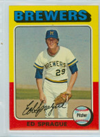 1975 Topps Baseball 76 Ed Sprague Milwaukee Brewers Near-Mint to Mint