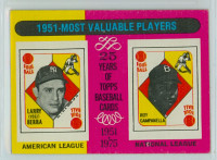 1975 Topps Baseball 189 1951 MVP Very Good to Excellent