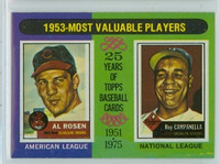1975 Topps Baseball 191 1953 MVP Excellent to Mint