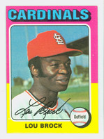 1975 Topps Baseball 540 Lou Brock St. Louis Cardinals Excellent to Mint