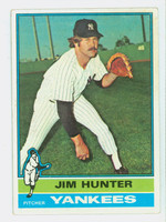 1976 Topps Baseball 100 Jim Hunter New York Yankees Excellent