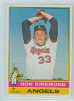 1976 Topps Baseball 108 Don Kirkwood California Angels Near-Mint to Mint