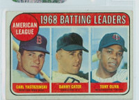 1969 Topps Baseball 1 AL Batting Leaders Very Good to Excellent