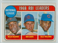 1969 Topps Baseball 4 NL RBI Leaders Excellent