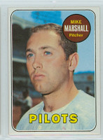 1969 Topps Baseball 17 Mike Marshall Seattle Pilots Near-Mint to Mint