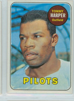 1969 Topps Baseball 42 Tommy Harper Seattle Pilots Near-Mint