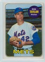 1969 Topps Baseball 72 Ron Taylor New York Mets Excellent to Excellent Plus