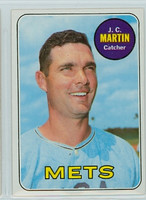 1969 Topps Baseball 112 JC Martin New York Mets Near-Mint to Mint