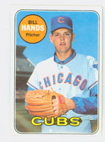 1969 Topps Baseball 115 Bill Hands Chicago Cubs Near-Mint Plus