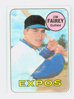 1969 Topps Baseball 117 Jim Fairey Montreal Expos Near-Mint Plus