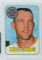1969 Topps Baseball 118 Stan Williams Cleveland Indians Near-Mint to Mint