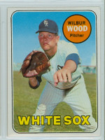 1969 Topps Baseball 123 Wilbur Wood Chicago White Sox Near-Mint to Mint